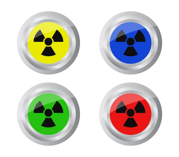 Conjunto de botão de radiação