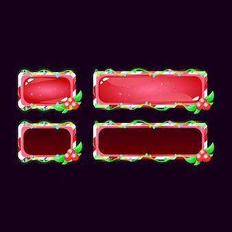Conjunto de botão gui de natal