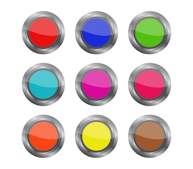 Conjunto de botão web