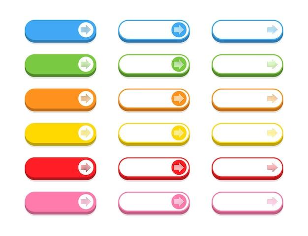 Conjunto de botões coloridos
