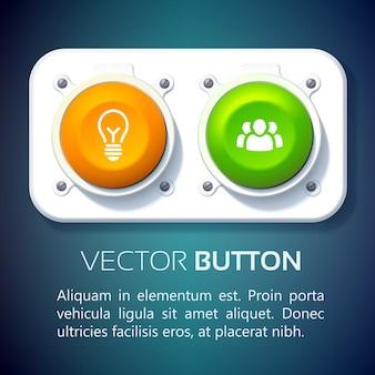 Conjunto de botões da interface da web