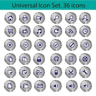 Conjunto de botões de ícones