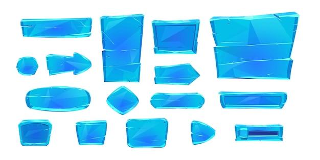 Conjunto de botões de jogo de gelo