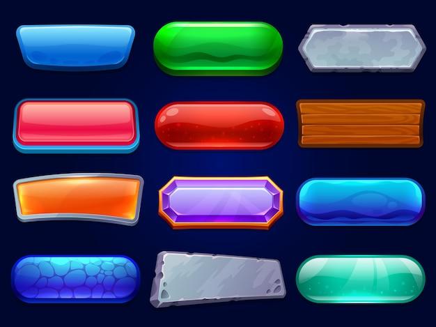 Conjunto de botões de jogo