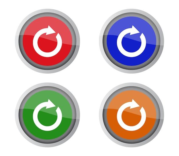 Conjunto de botões de recarga