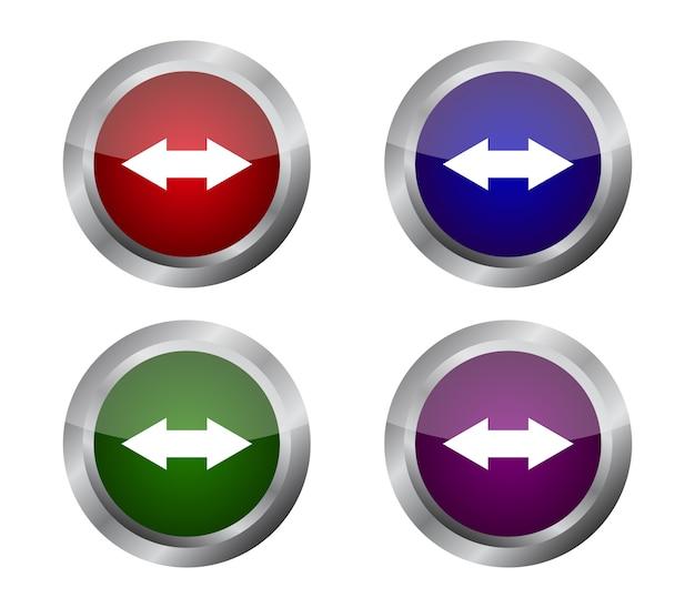 Conjunto de botões de setas