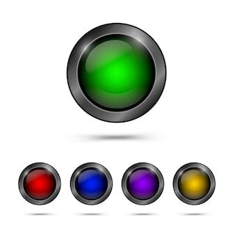Conjunto de botões de vidro na moda