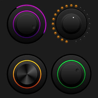 Conjunto de botões de volume