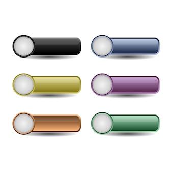 Conjunto de botões do site