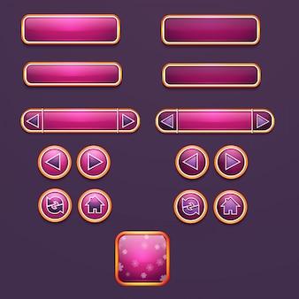 Conjunto de botões e ícones para design