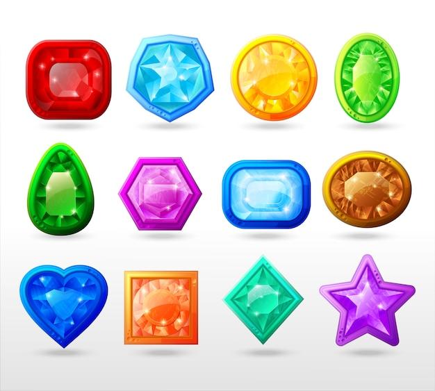 Conjunto de botões gui dos desenhos animados