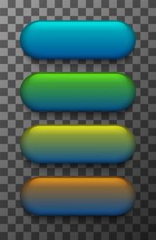Conjunto de botões web colorido moderno