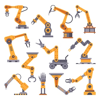 Conjunto de braços robóticos