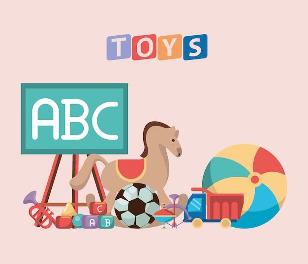 Conjunto de brinquedos de bebê