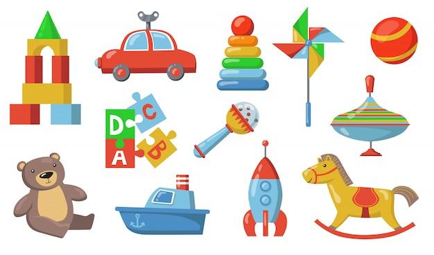 Conjunto de brinquedos infantis