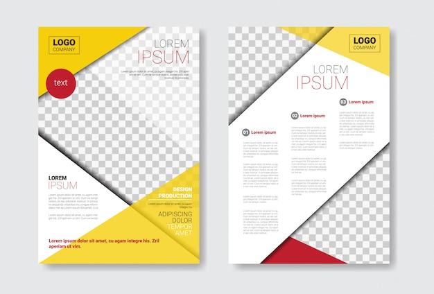 Conjunto de brochura de modelo de design