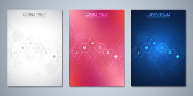 Conjunto de brochura de modelo ou livro de capa
