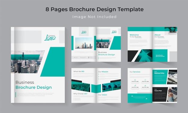 Conjunto de brochura de perfil de empresa de 8 páginas