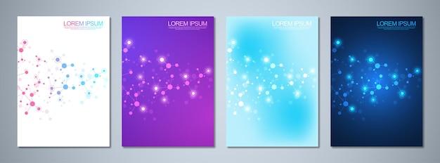 Conjunto de brochuras de modelo ou design de capa