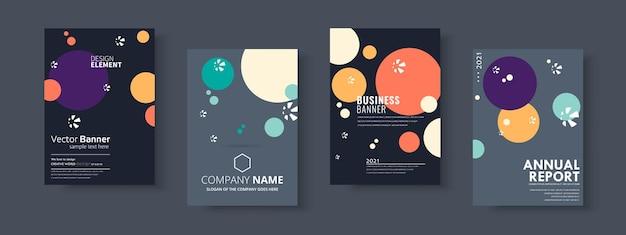 Conjunto de brochuras de negócios