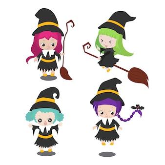 Conjunto de bruxas bonito