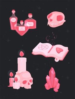 Conjunto de bruxas mágicas.