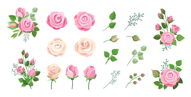 Conjunto de buquês de rosas