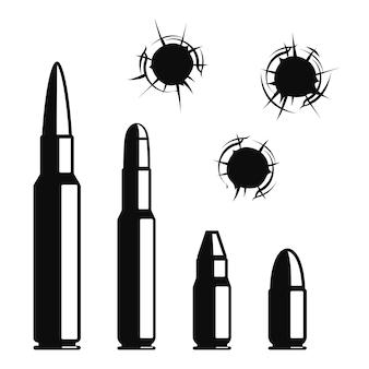 Conjunto de buracos de bala.