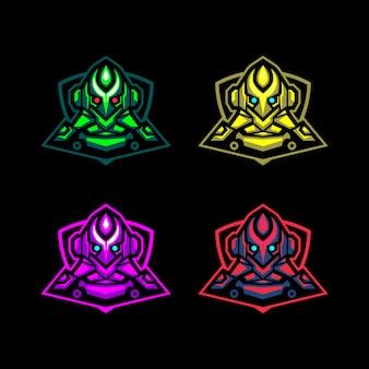 Conjunto de cabeça ciborgue