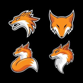 Conjunto de cabeça de raposa