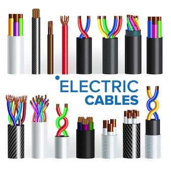Conjunto de cabos elétricos