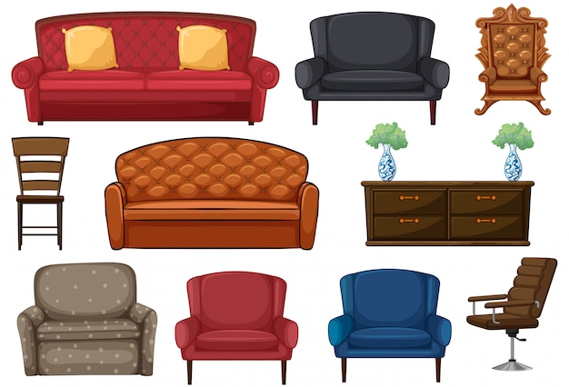 Conjunto de cadeira e sofá