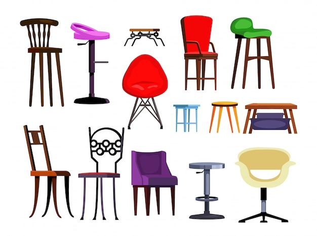 Conjunto de cadeiras ilustração