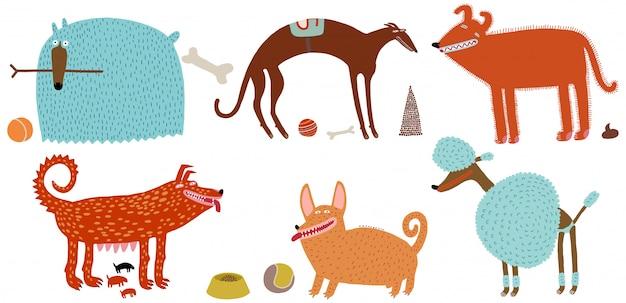 Conjunto de cães