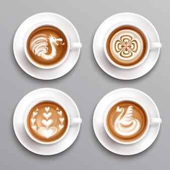 Conjunto de café com leite