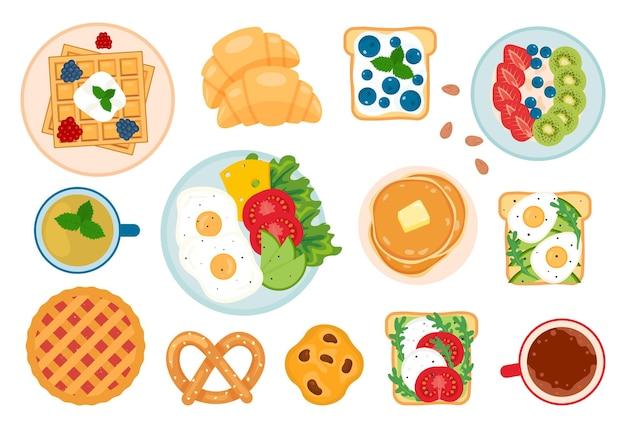 Conjunto de café da manhã fofo