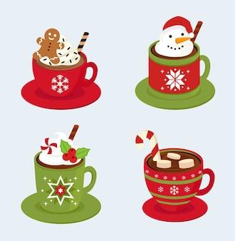 Conjunto de café de natal