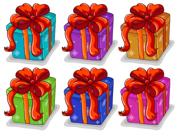 Conjunto de caixa de presentes