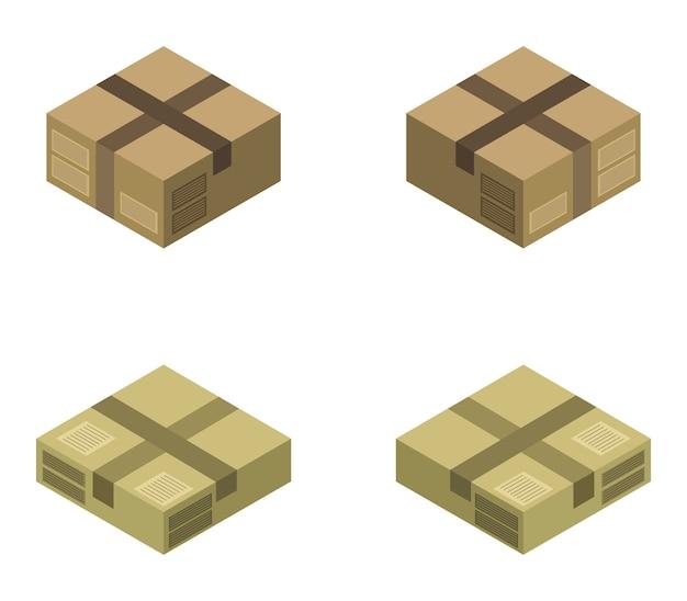 Conjunto de caixa isométrica