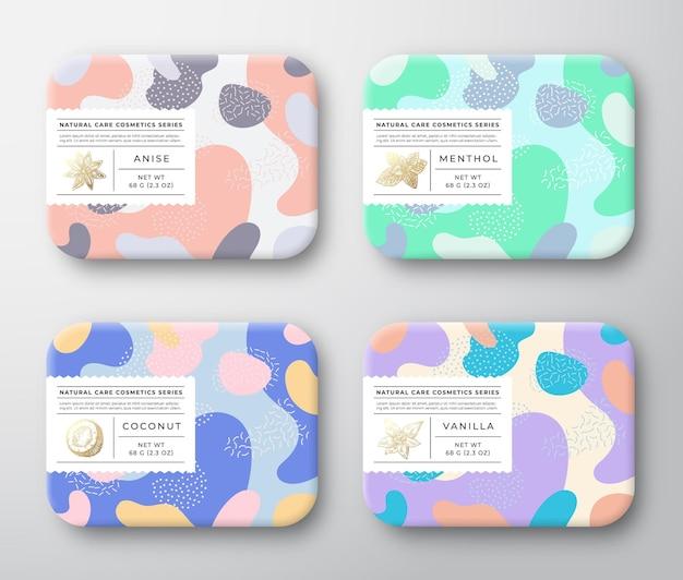 Conjunto de caixas de cosméticos para banho, embalagens de recipientes embrulhados