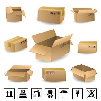 Conjunto de caixas de envio