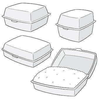 Conjunto de caixas de espuma