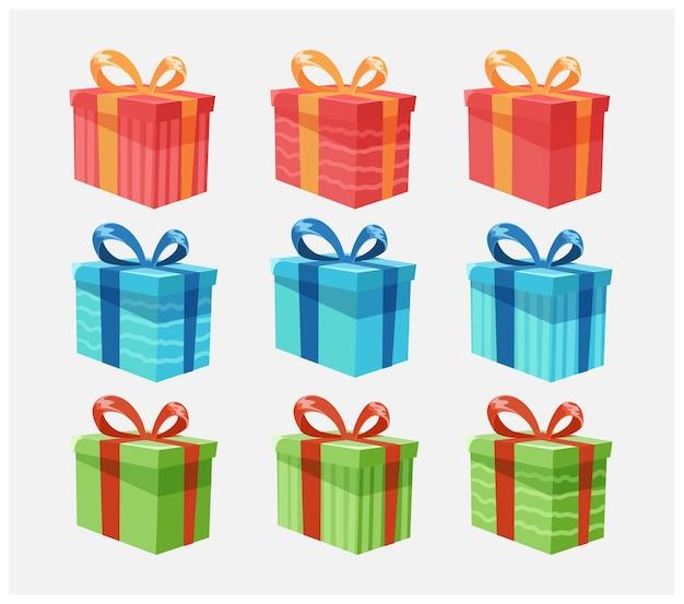 Conjunto de caixas de presente para presentes de natal ou aniversário