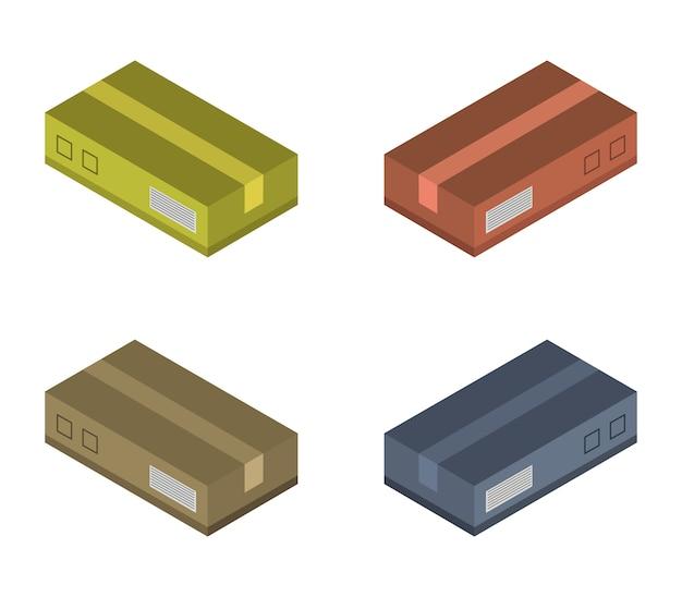 Conjunto de caixas isométricas