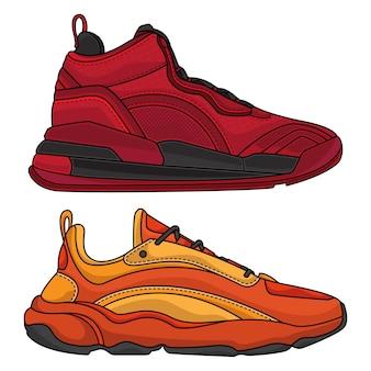 Conjunto de calçados esportivos