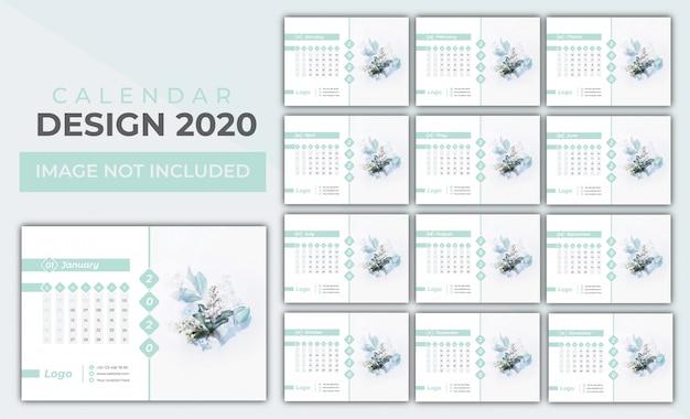 Conjunto de calendário 2020