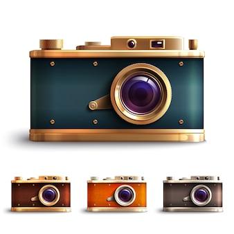 Conjunto de câmera de estilo retro