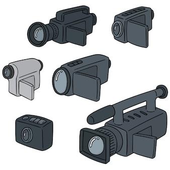 Conjunto de câmera de vídeo