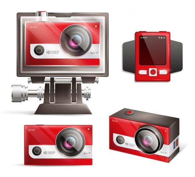 Conjunto de câmeras de ação