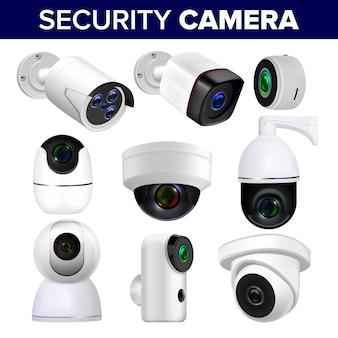 Conjunto de câmeras de segurança de vigilância por vídeo
